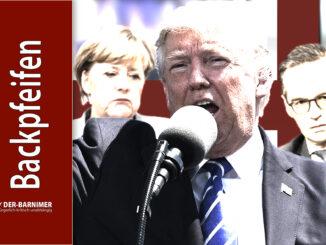 Trump verteilt Backpfeifen